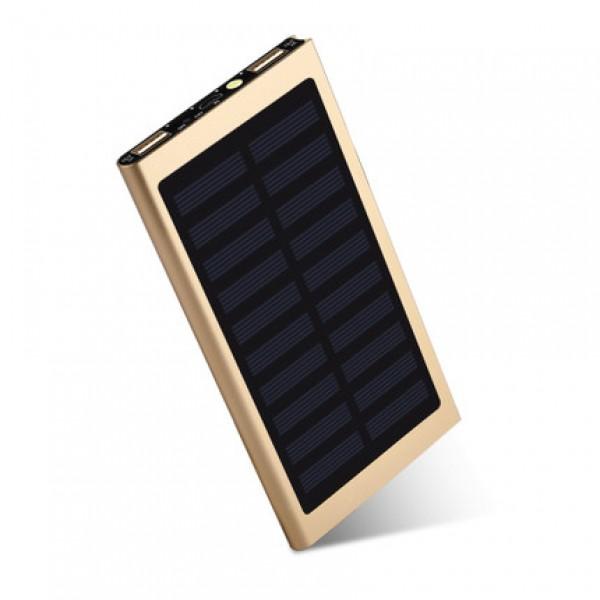 超薄太阳能充电宝12000mA(光伏移动电源)