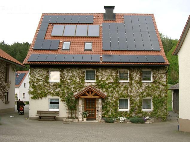 太阳能别墅屋顶