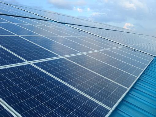 太阳能工厂屋顶